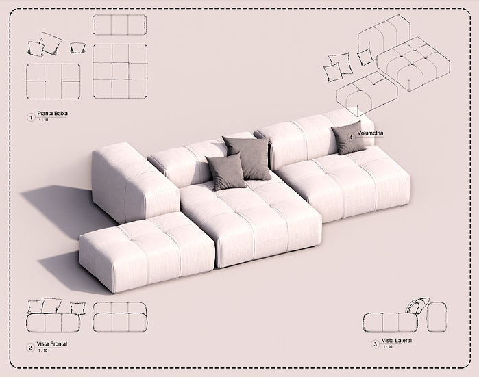 Sofa Revit 40 High Quality