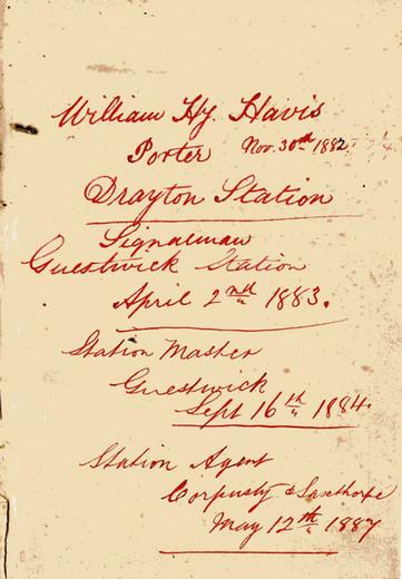 Porter, Nov 30th 1882 – Drayton Station