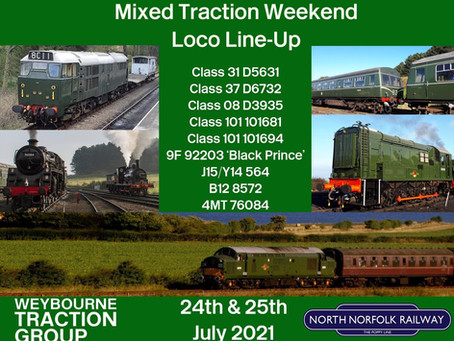 Mixed Traction Weekend Loco Line Up