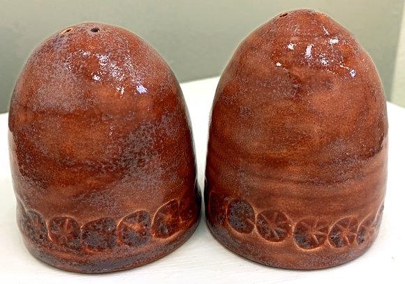 Hand Thrown Ceramic Salt and Pepper Shakers