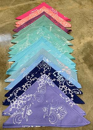 Hand Dyed Batik Kerchiefs