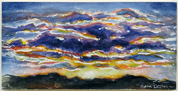 Violet Hill Country Sunset Print
