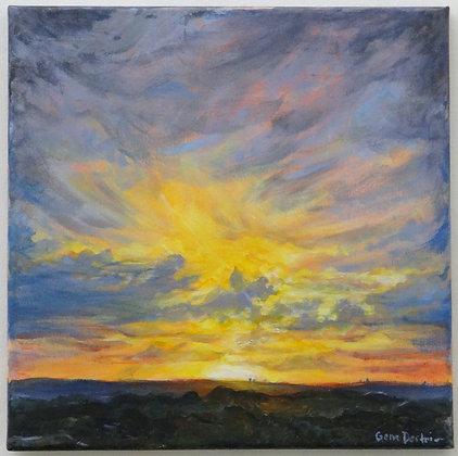 Sunset Over Buda #1 Print