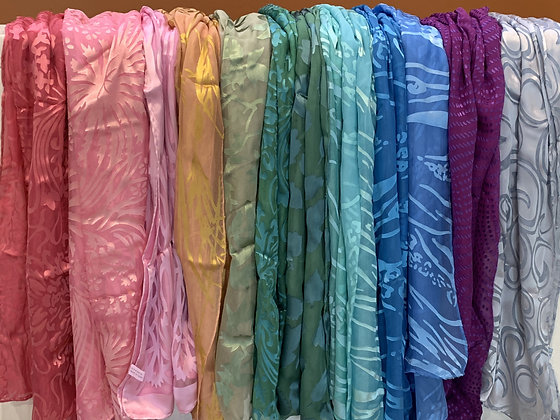 Hand Dyed Silk Blend Scarves