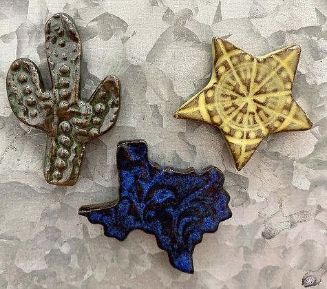 Set of 3 Mini Ceramic Fridge Magnets