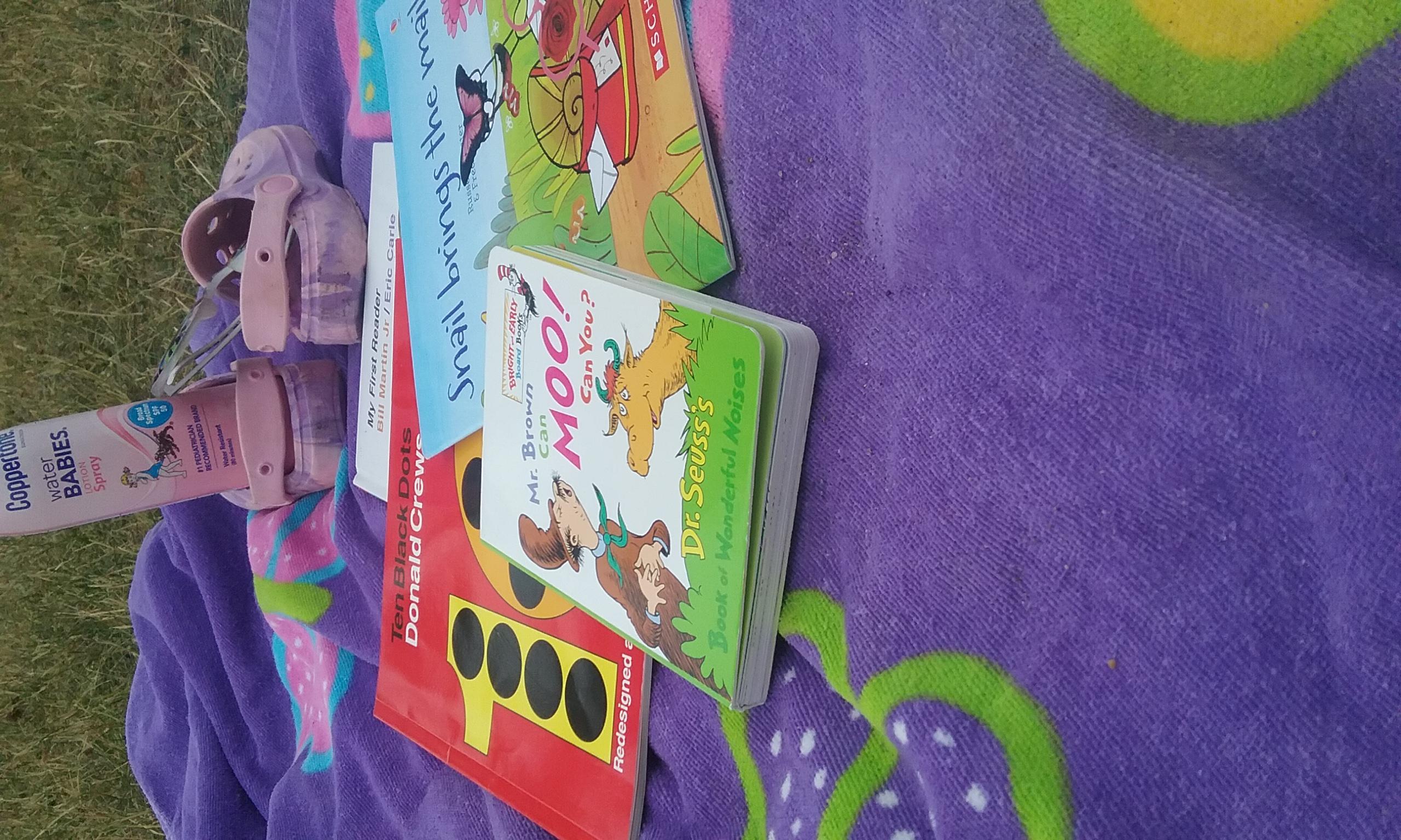 Beach: sunscreen & books!
