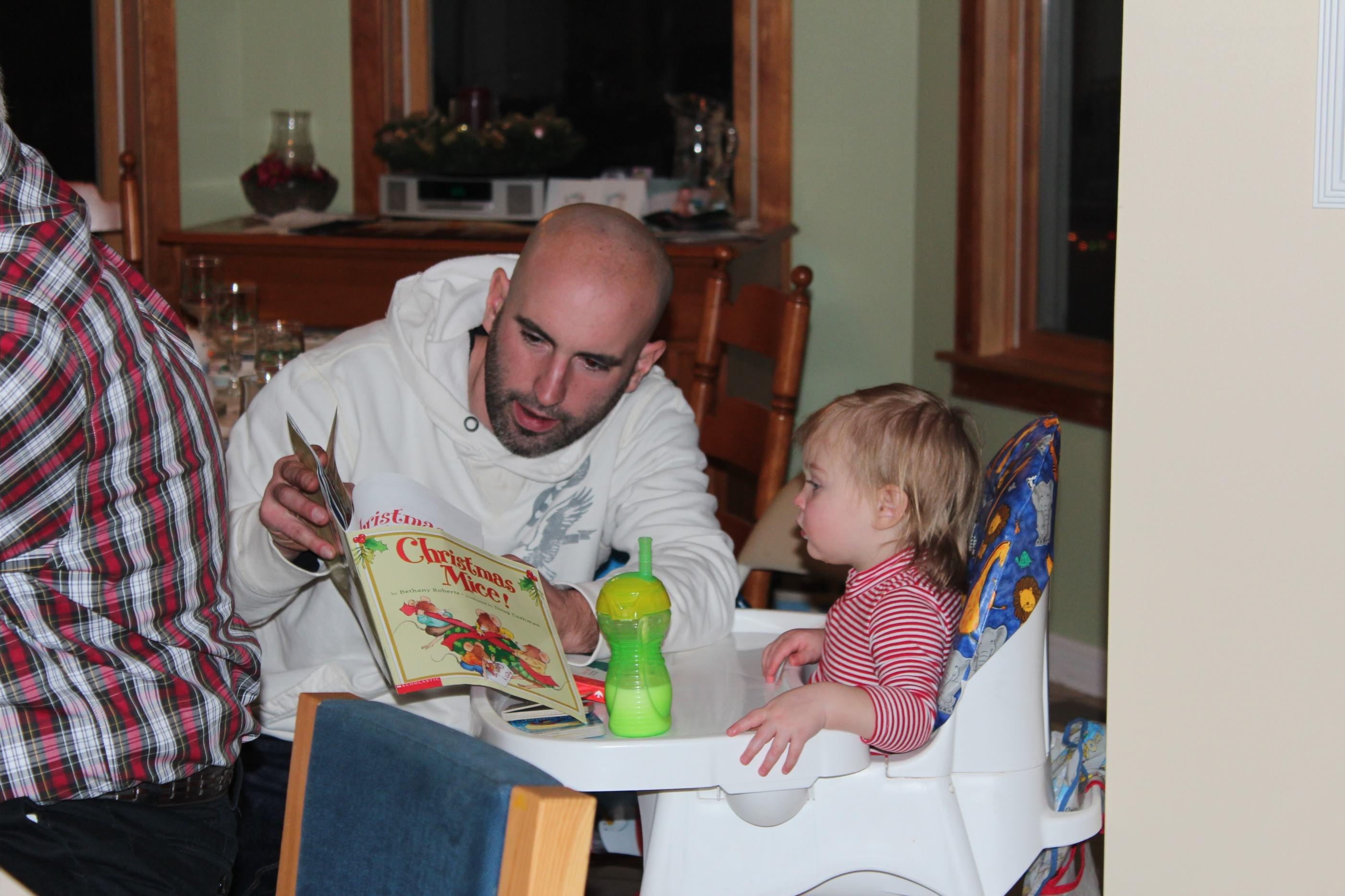 Reading before dinner!