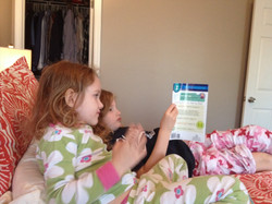 Sister reading time