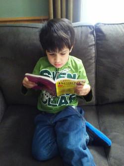 Jayden reading
