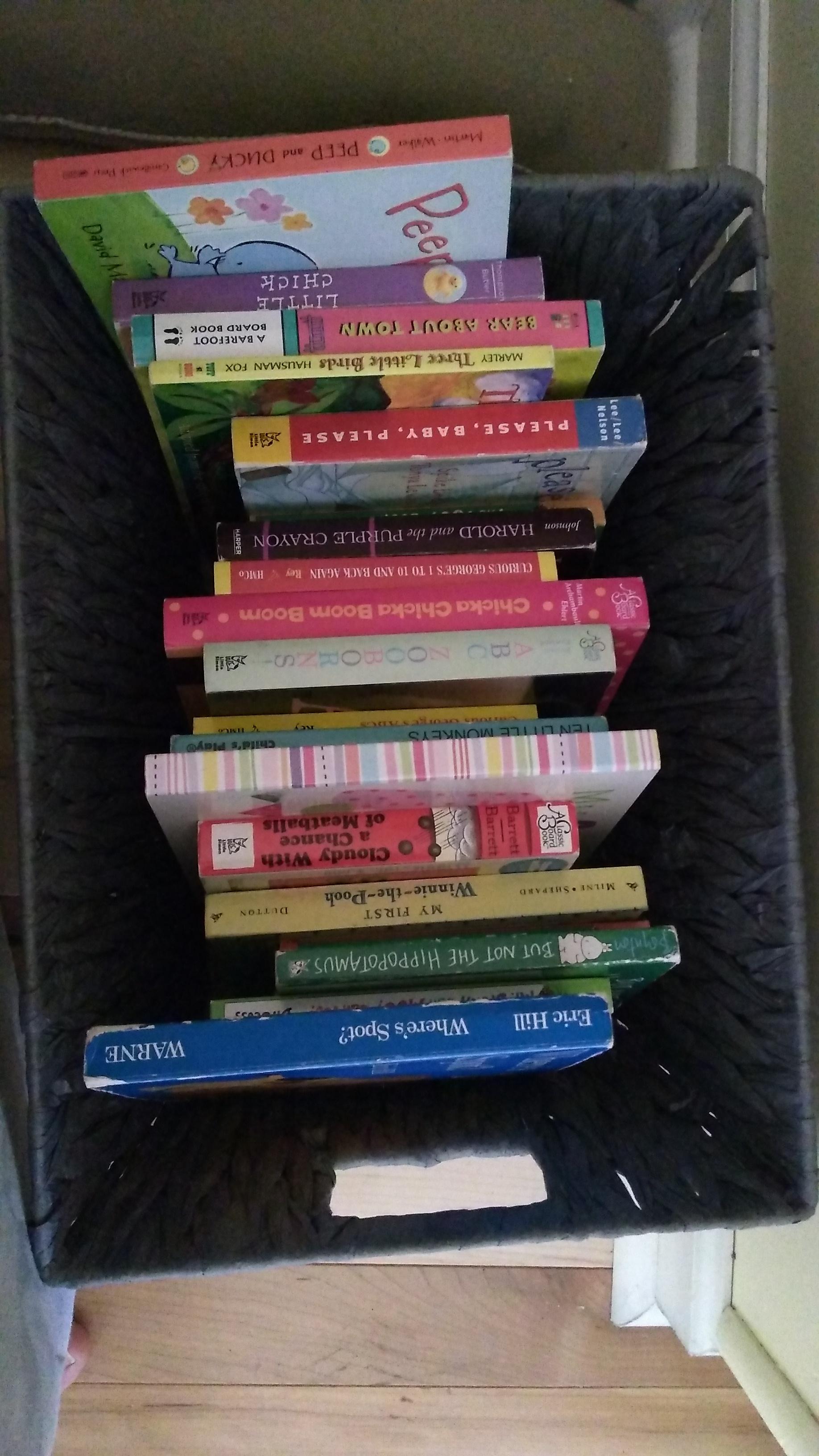 Reading Nook Basket of Books