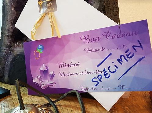 Chèque Cadeau Minéroé