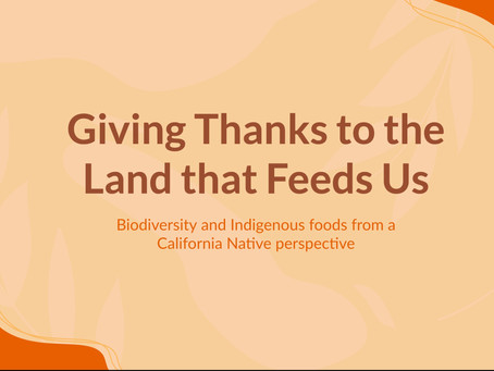 giving thanks to the land that feeds us: Shifting perspectives