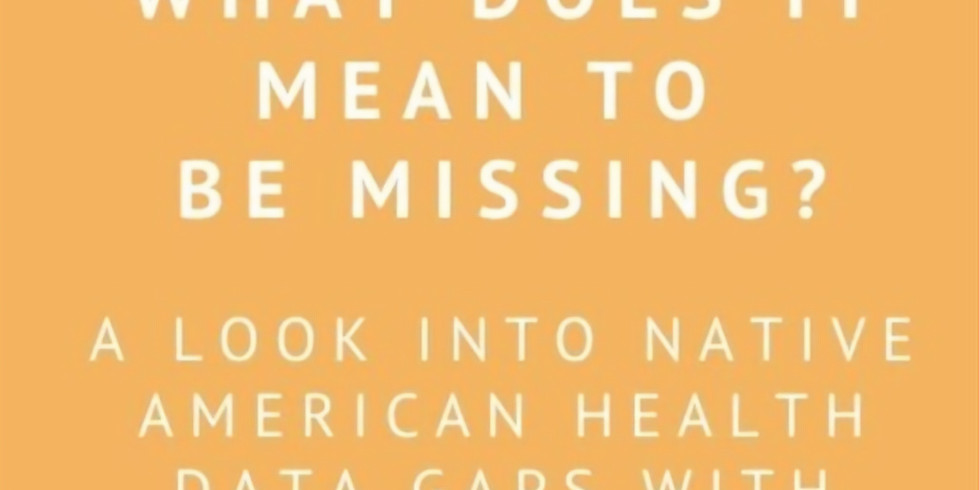 What Does it Mean to be Missing From the Data? A Look into Native American Health Data Gaps with Virginia Hedrick