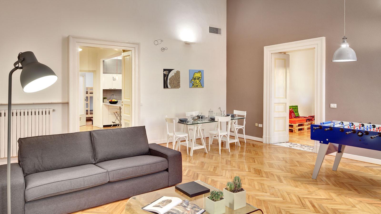 pulizia salotto appartamenti