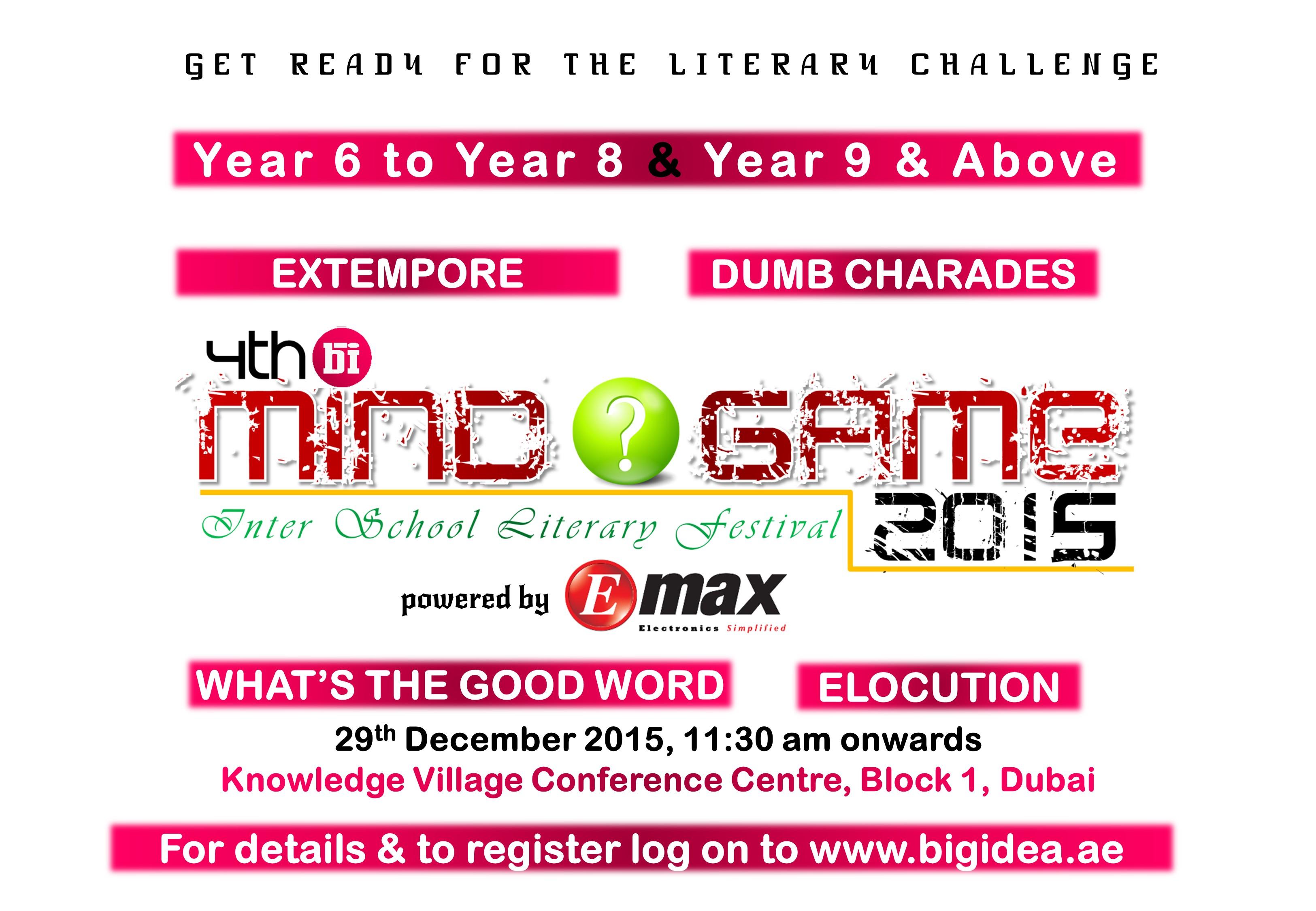 Mindgame 2015 - Poster