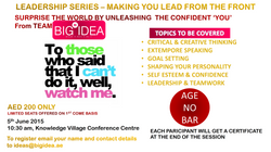 Big Idea - Leadership Series - 6th June 2015