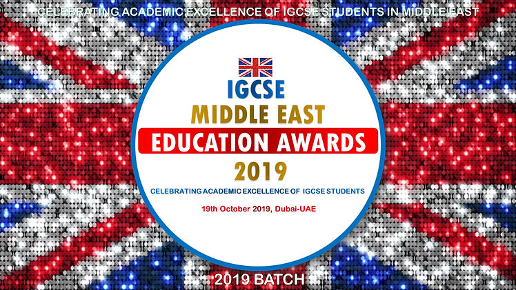 IGCSE Middle East Education Awards 2019.