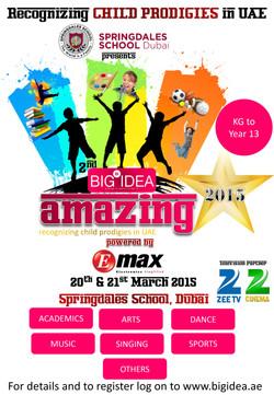 2nd Big Idea Amazing Stars 2015 - Poster