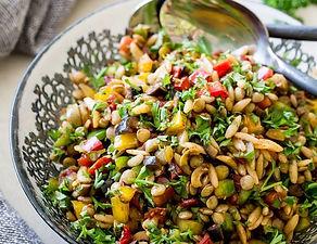 Mediterranean lentil salad with BG vinai