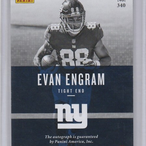 2017 Panini Preferred Great X Pectations 340 Evan Engram Autograph