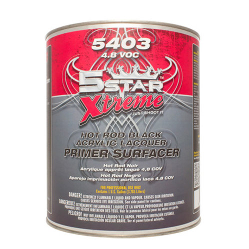 FiveStar 5403 - Hot Rod Black Acrylic Lacquer  ( 1 Gal )