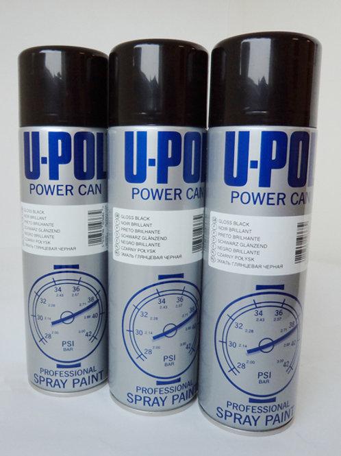 U-POL Power Can Gloss Black ( 1 Can )