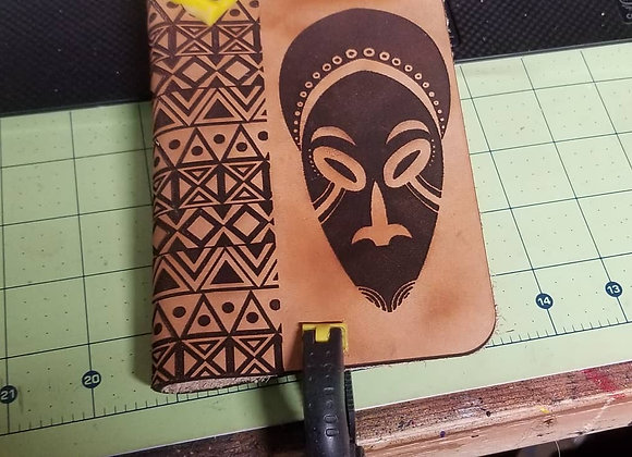 African Mask Passport Cover