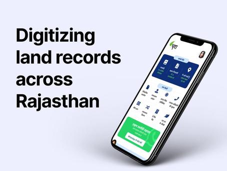 Digitizing land records across Rajasthan