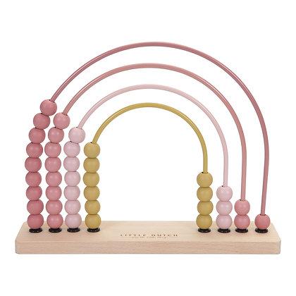 Dřevěné počítadlo, růžové