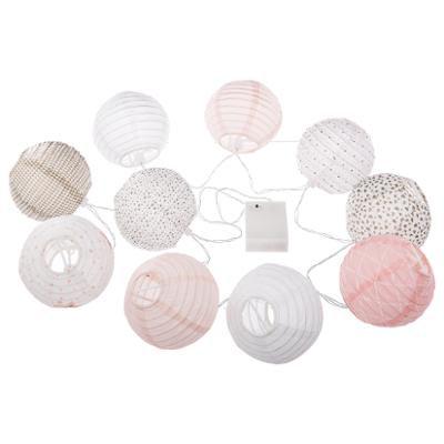 Girlanda s 10 LED papírovými koulemi