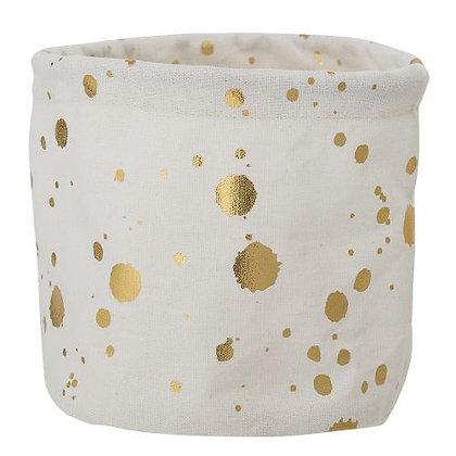 Úložný košík zlaté kapky