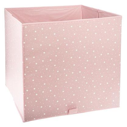 Úložný box růžový s hvězdičkami