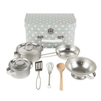 Dětský šedý kuchyňský set