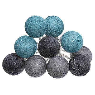 Girlanda s 10 LED koulemi, modrá/šedá/černá