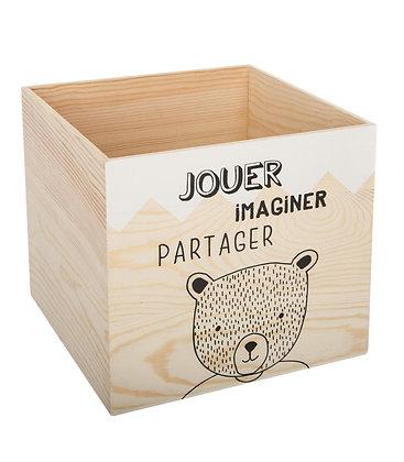 """Dřevěný box """"Jouer"""""""