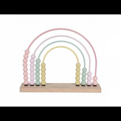 Dřevěné počítadlo růžové