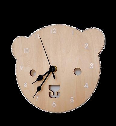 Nástěnné hodiny medvěd | 2 barvy ručiček
