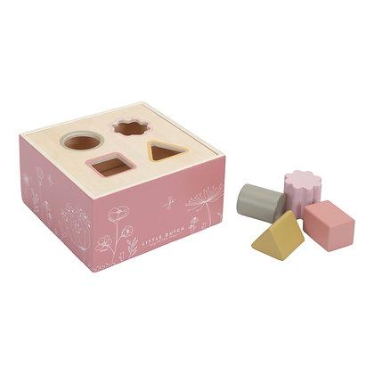 Dřevěná vkládačka pink
