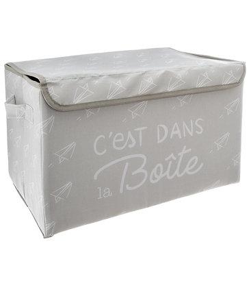 Malý látkový úložný box šedý