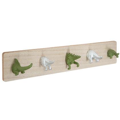 Dřevěný věšák dinosauři
