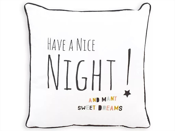 "Polštář ""Have a Nice Night"" 40 x 40"