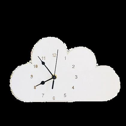 Nástěnné hodiny bílý mrak