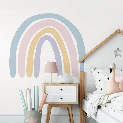 Samolepka na zeď velká pastelová duha