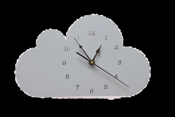 Nástěnné hodiny šedý mrak
