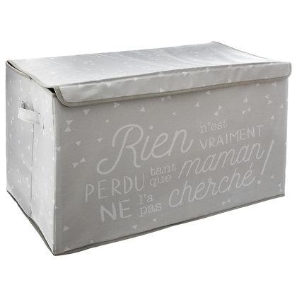 Látkový úložný box šedý