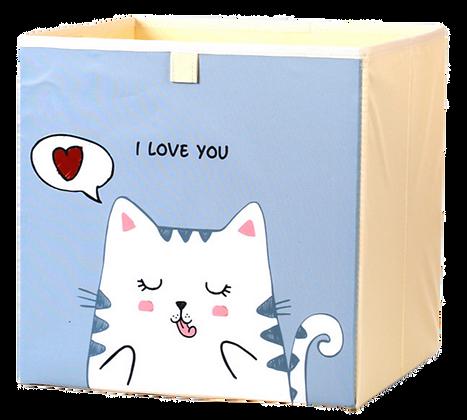 Úložný box kočka, šedý