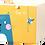 Thumbnail: Úložný box kočka a pták, žlutý