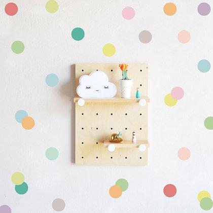Samolepky na zeď malé vícebarevné puntíky