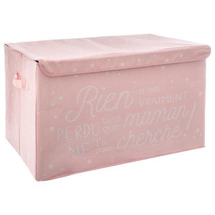 Látkový úložný box, růžový