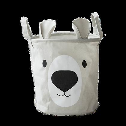 Látkový košík na hračky medvěd